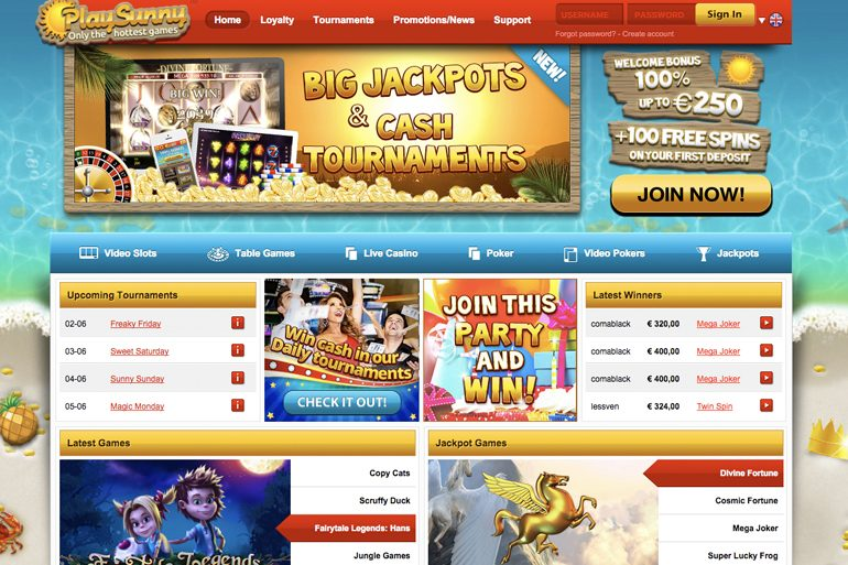 PlaySunny Live Casino