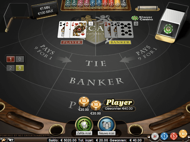Live Baccarat at Netent
