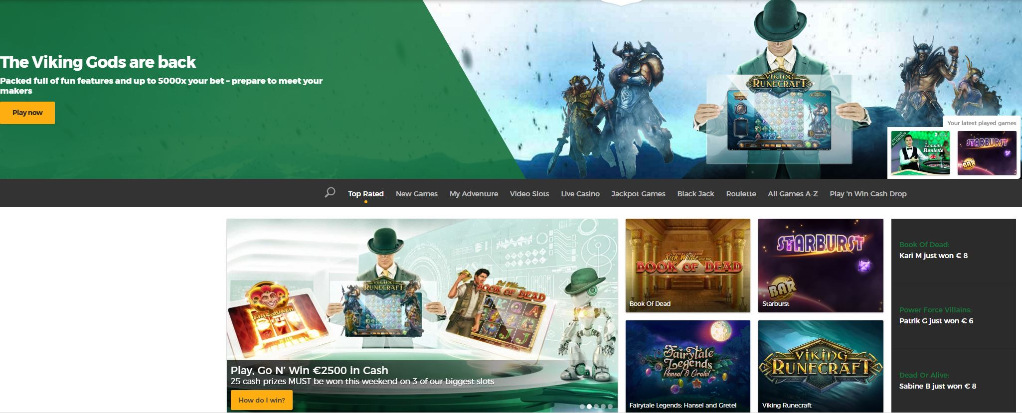 Mr. Green Live Casino Register