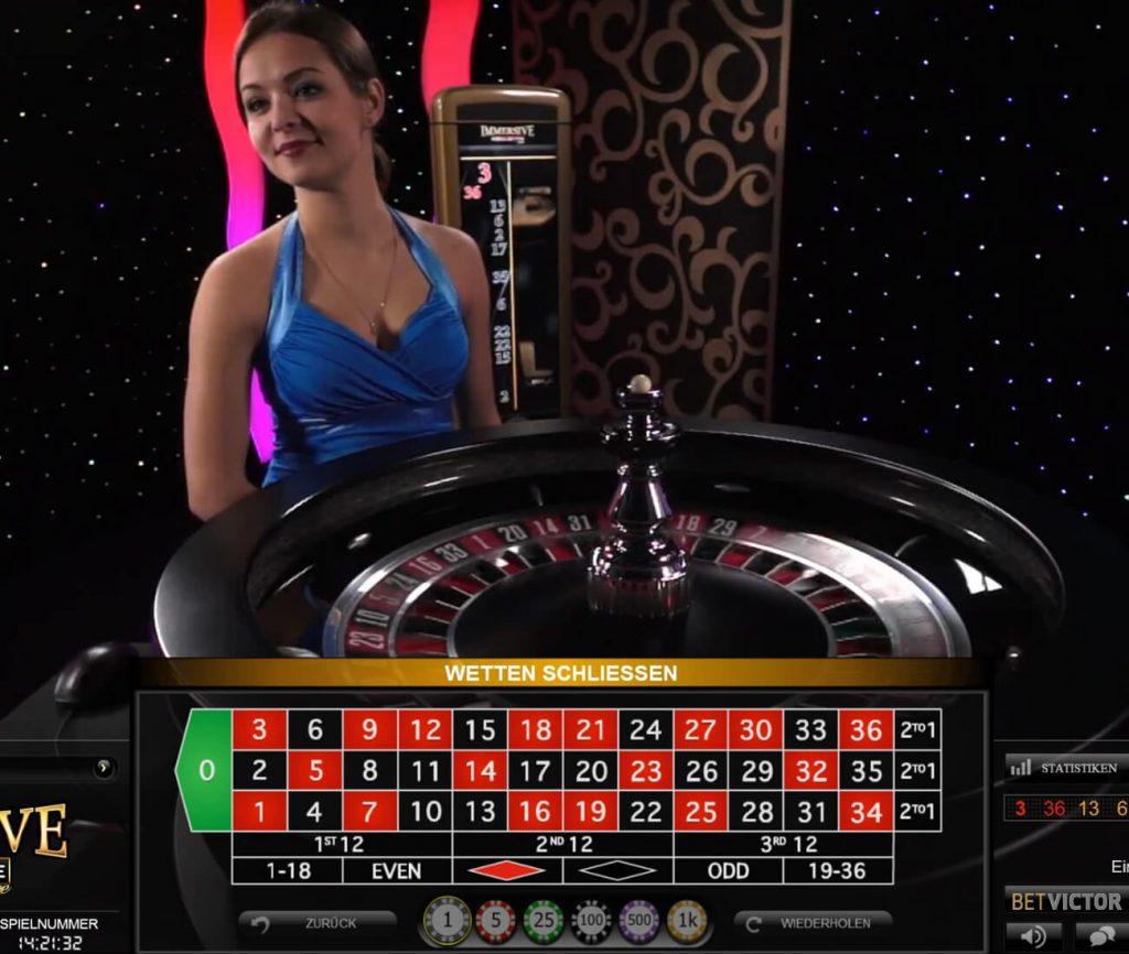 Live Immersive Roulette total shot