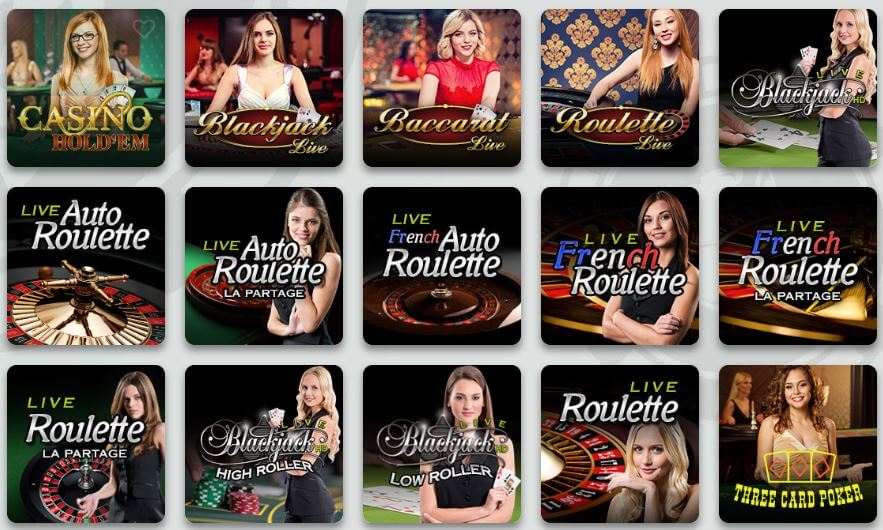 Sir Jackpot Live Casino Games
