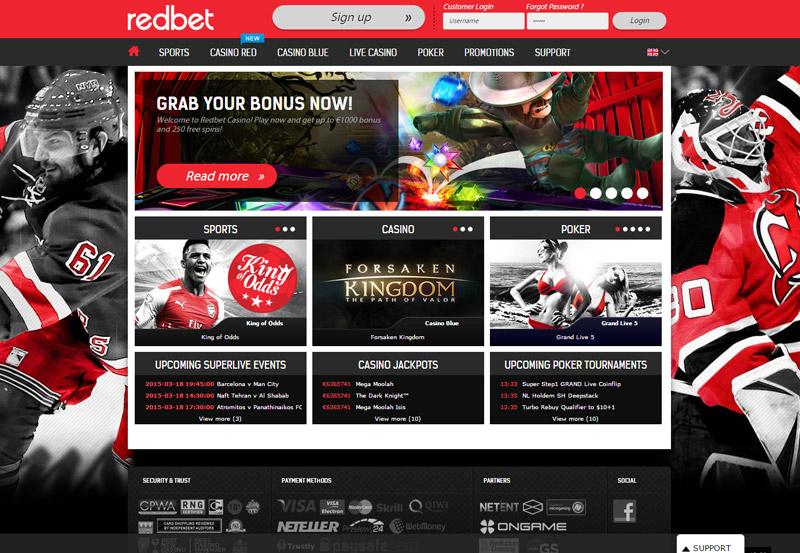Redbet Live Casino Login