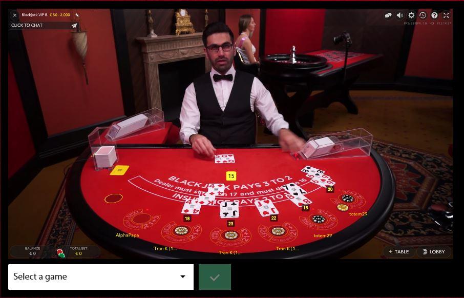 Blackjack at Redbet