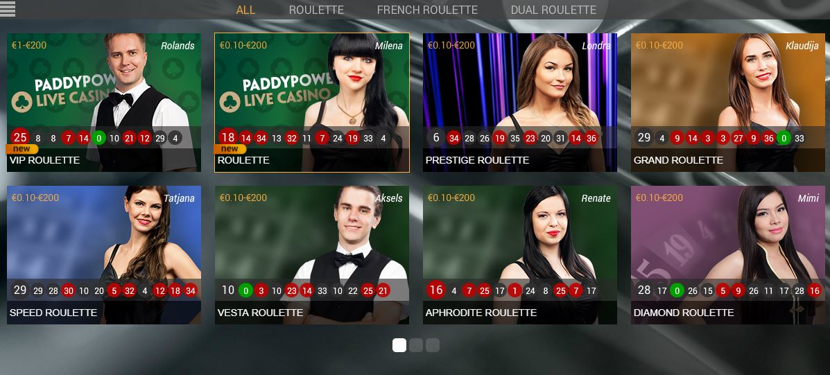 Paddy Power Roulette Live Casino Playtech