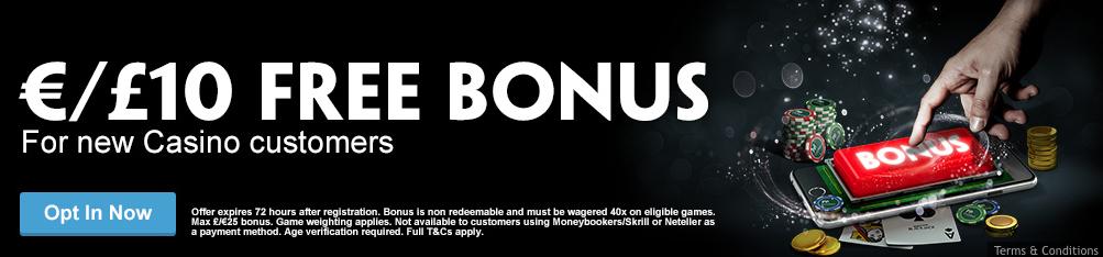 Paddy Power Live Casino Free Bonus Button