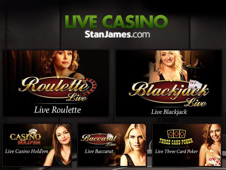Stan James Live Casino Games