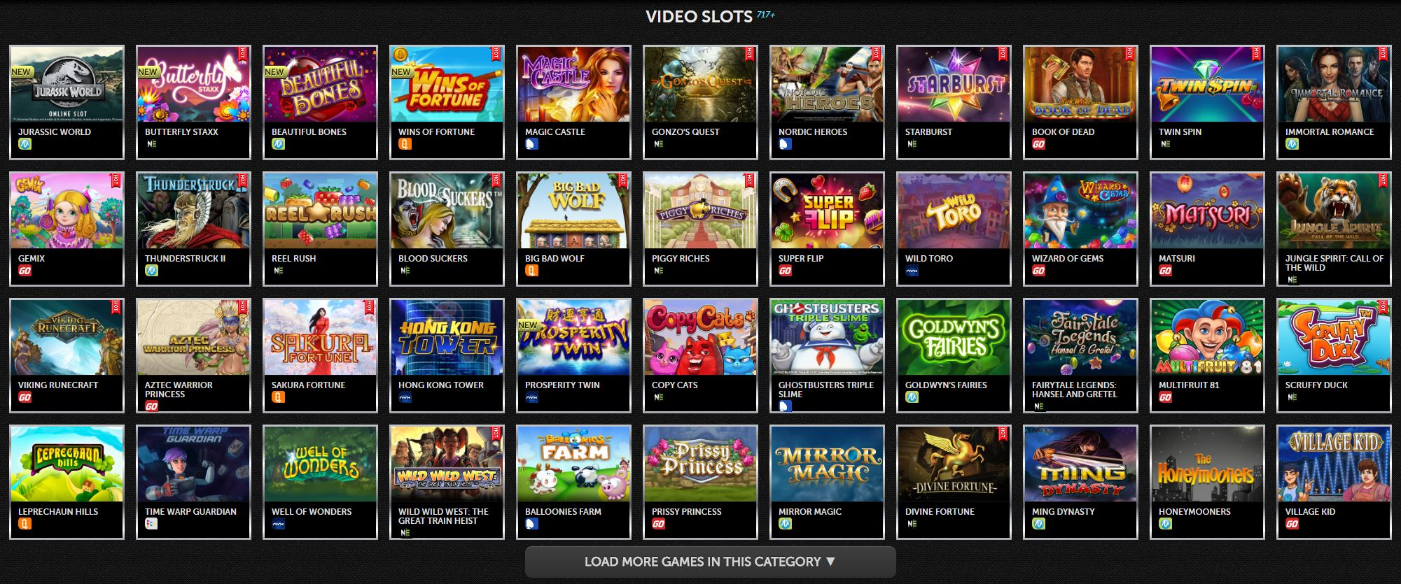 Video Games Spinson Live Casino