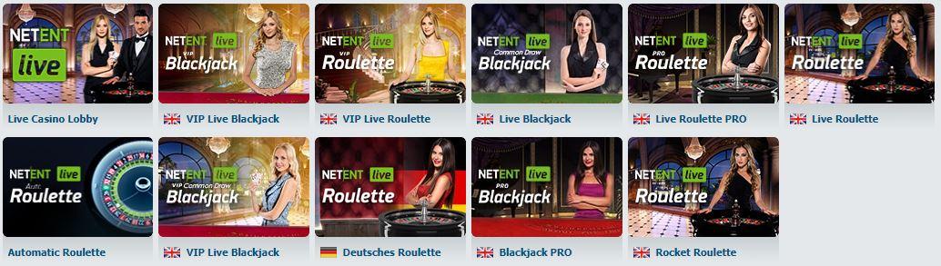 BetAtHome NetEnt Live Casino