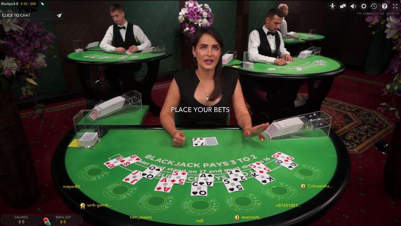 ShadowBet Live Casino Blackjack Dealers