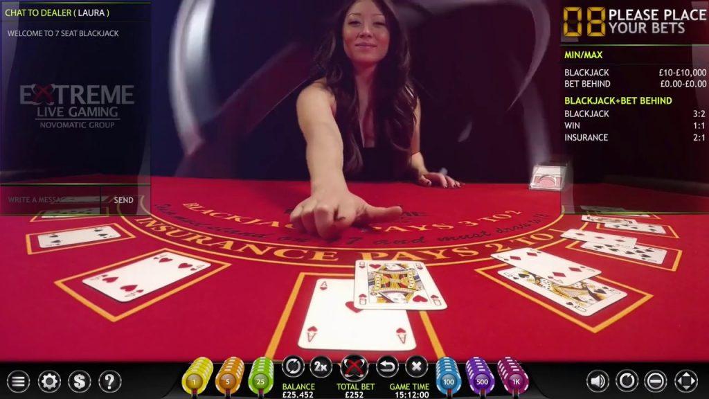 Extreme Live Gaming Live Blackjack