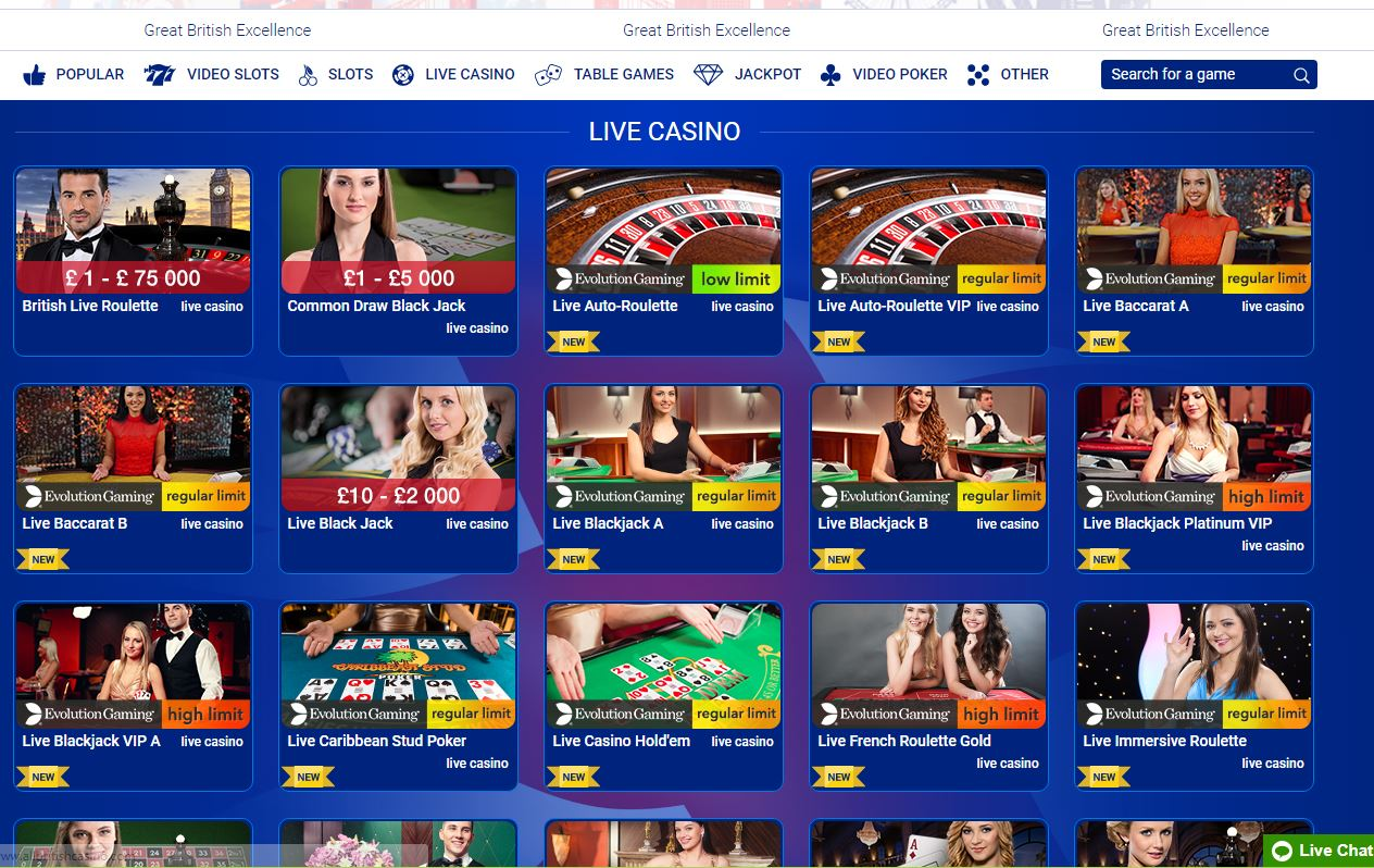 All British Live Casino Live Casino