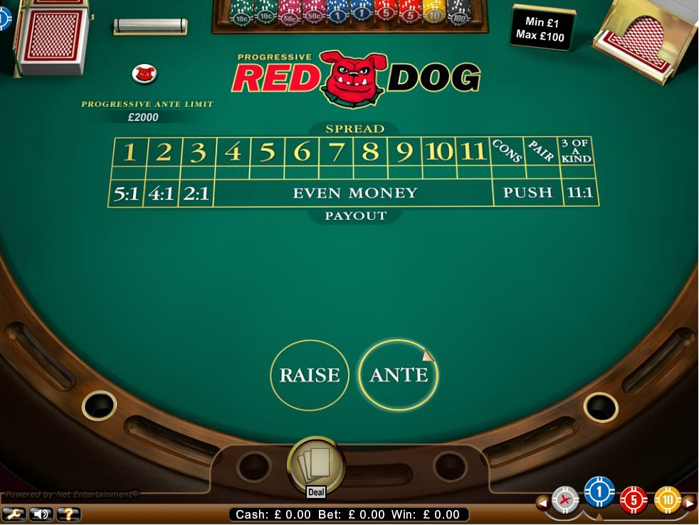 All British Live Casino Red Dog