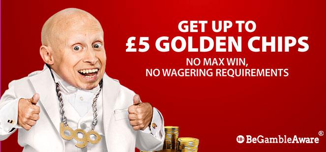 BGO Welcome Bonus Golden Chips
